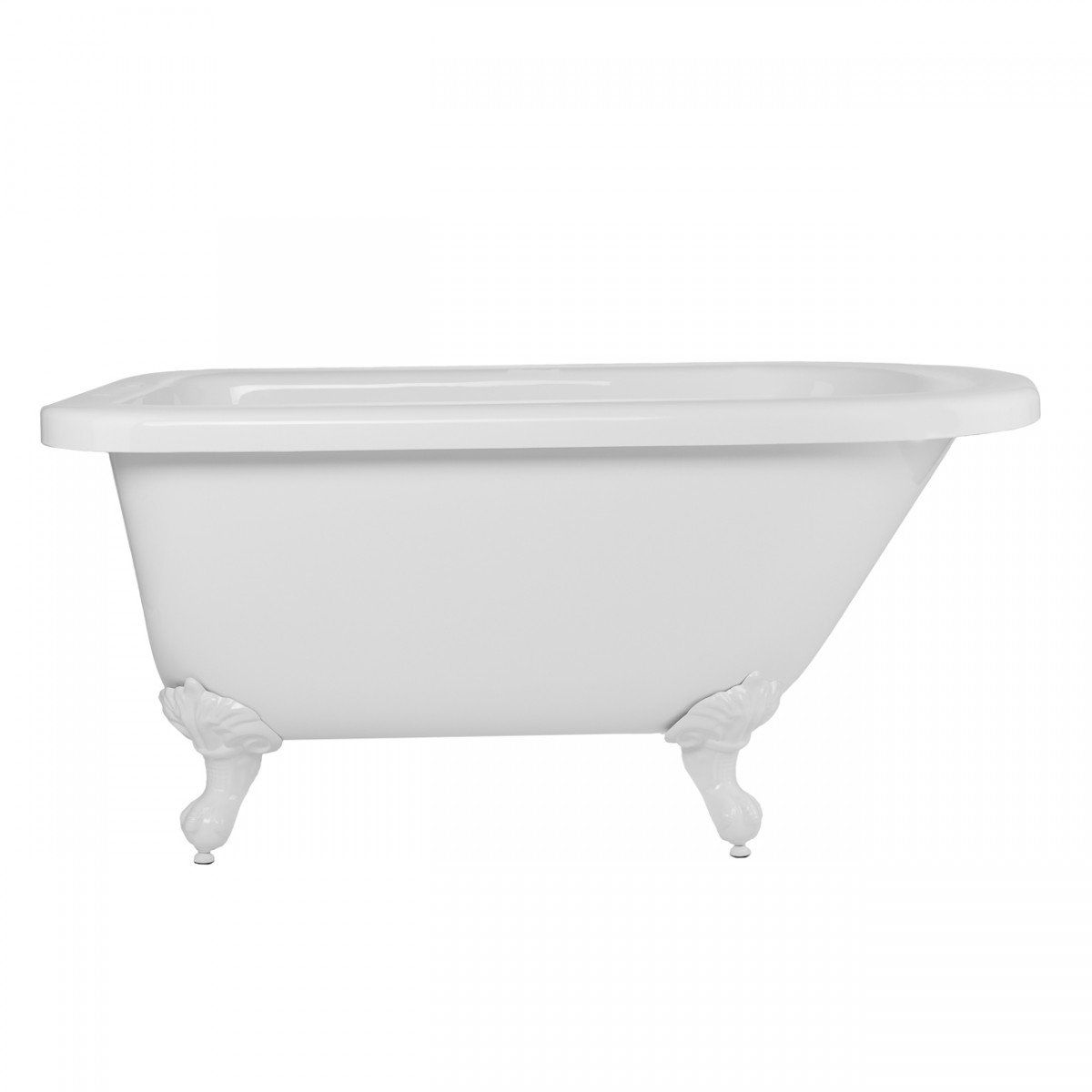 Savanna 54 Inch Acrylic Classic Rolltop Clawfoot Tub Package With