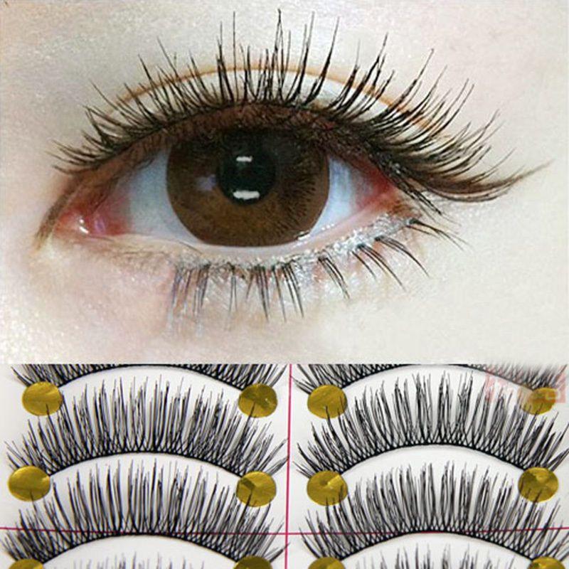 cf69e3afb88 2.19AUD - 10 Pairs Long Cross False Eyelashes Makeup Natural Fake Thick Eye  Lashes Eager #ebay #Fashion