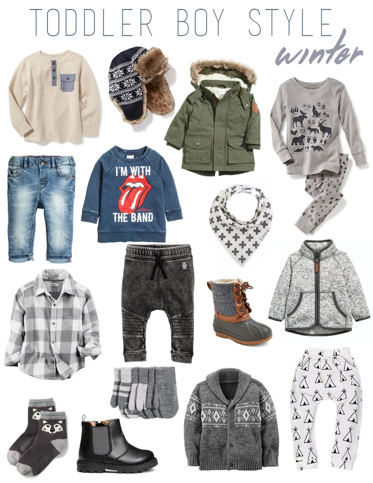 Toddler Boy Style Winter Cold Weather Holiday Baby
