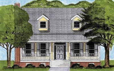 CapeCod House Plan chp-28590 at COOLhouseplans.com