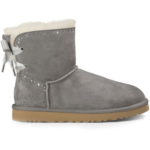 1ba92a9817a Ugg Dixie Flora Perf Sheepskin Lined Bootie ($150) ❤ liked on ...