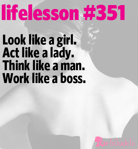 Act Like A Lady Think Like A Man Quotes 35340 Loadtve