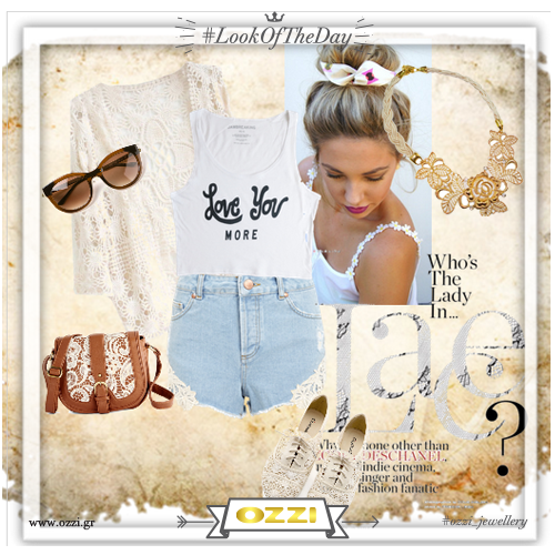 #lace #romance #beige #style #summer2014 #fashion #streetstyle #ozzi_jewellery #polyvore