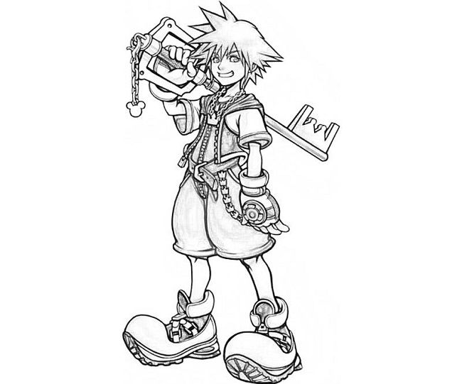 kingdom hearts coloring pages | coloring Pages | Pinterest | Dibujo