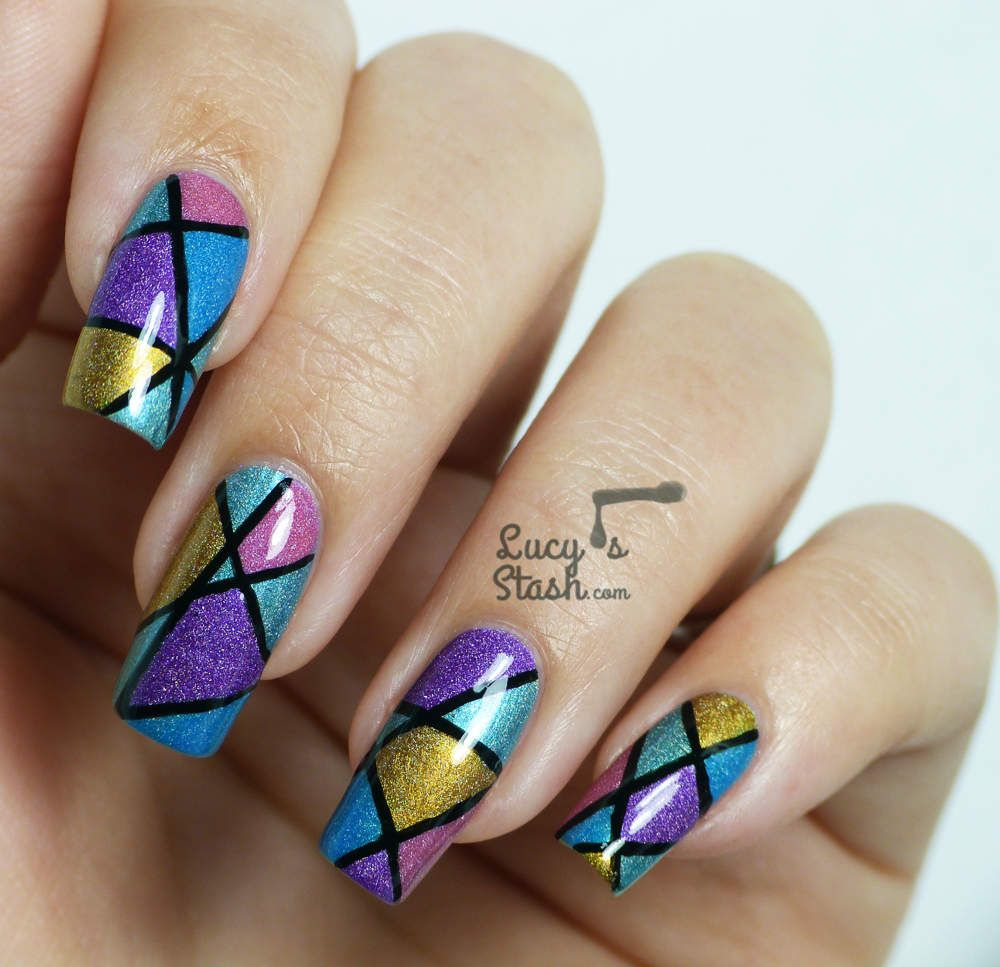 Abstract Holo Nail Art Design with Tutorial (Lucy\'s Stash ...