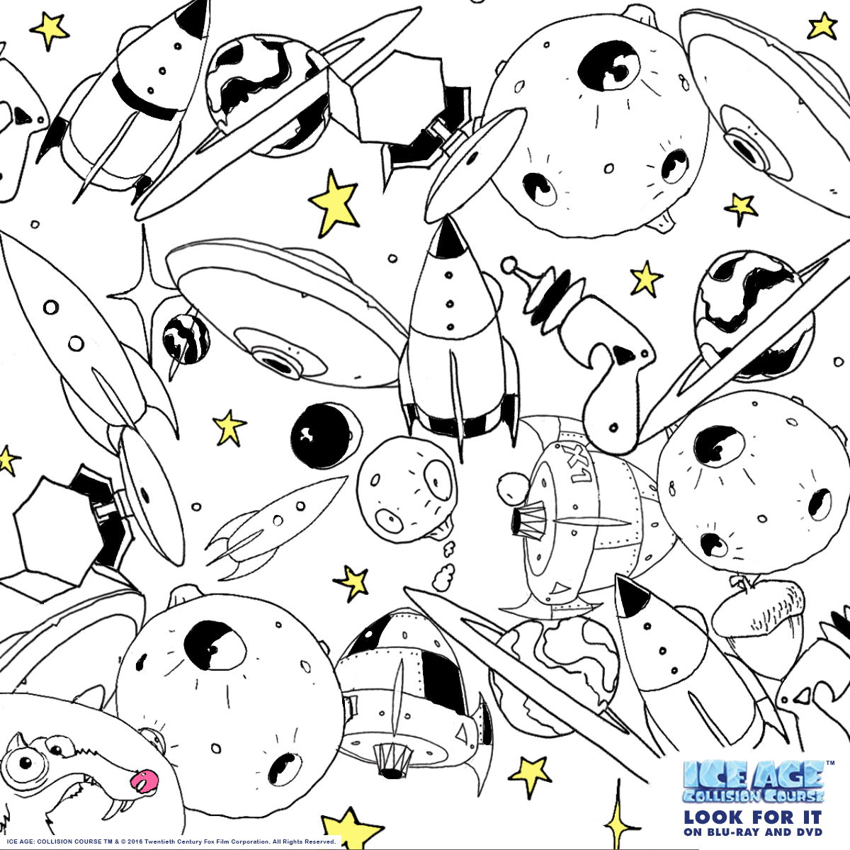 Ice Age Printable Coloring Page   Fox Home Entertainment Insider ...