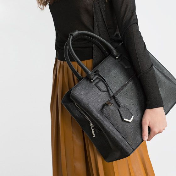 Image 3 of OFFICE CITY BAG from Zara Clothes Pinterest City