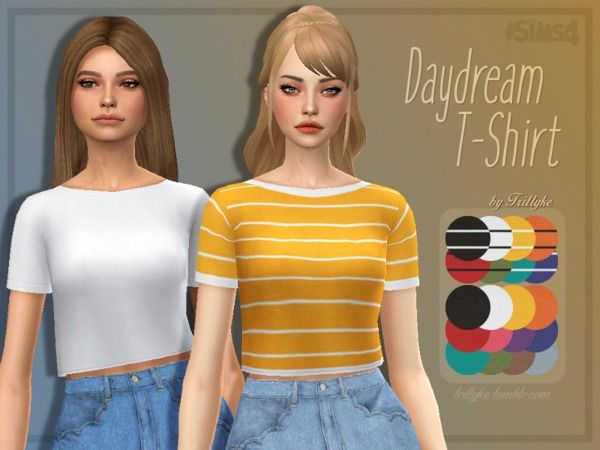 Sims 4 Updates Tsr Clothing Female Daydream T Shirt By