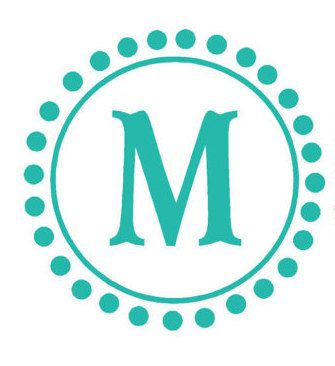 Circle Monogram Decal Letter With Polka Dots For By Householdwords 35 00 Initials Decal Monogram Wall Decals Monogram Decal