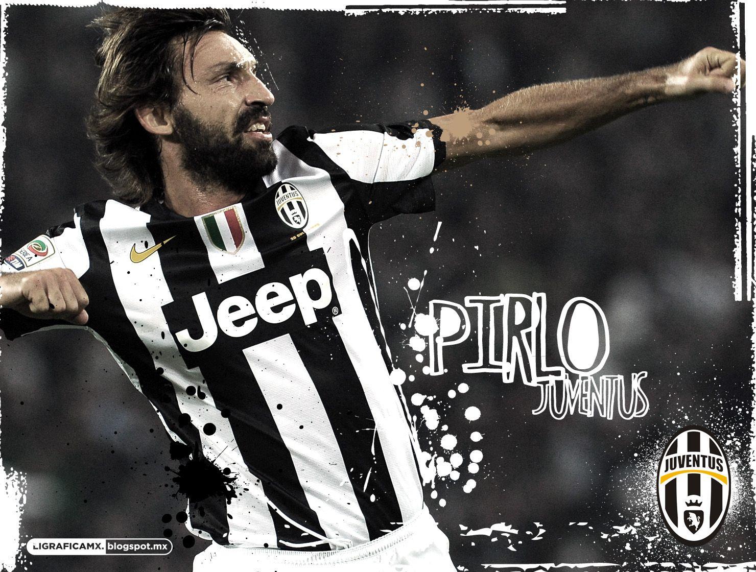 AndreaPirlo #Juventus #Wallpaper #LigraficaMX #ElFutbolNosInspira ...