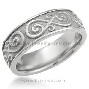 Eternity Symbol Contemporary Infinity Wedding Band This eternity