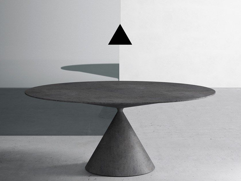 Round Stone Table Clay Table By Desalto Oval Table Table