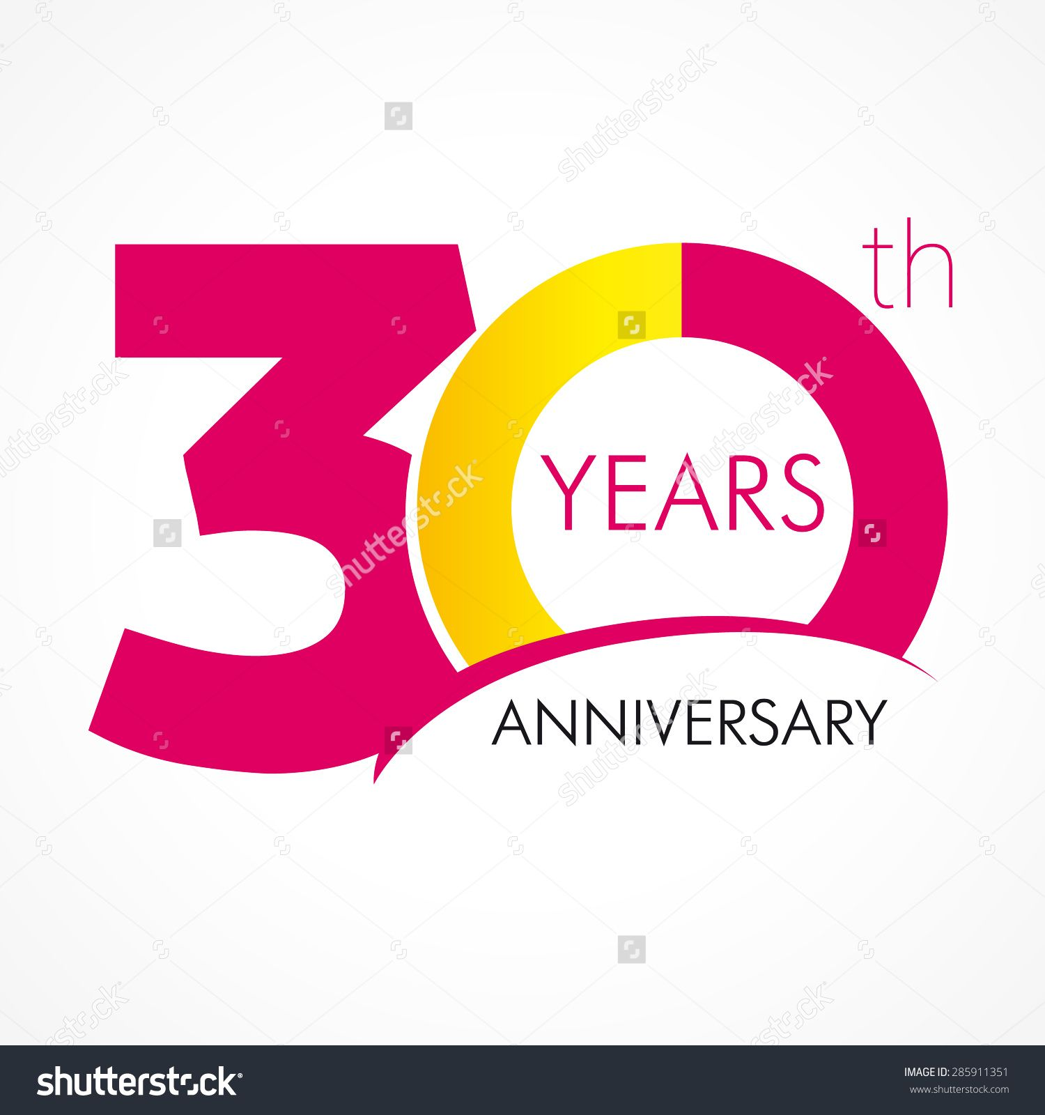 Download Template logo 30th anniversary with a circle in the form ...