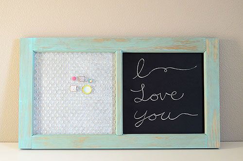 DIY Vintage Window Message Board Using Salvaged Products
