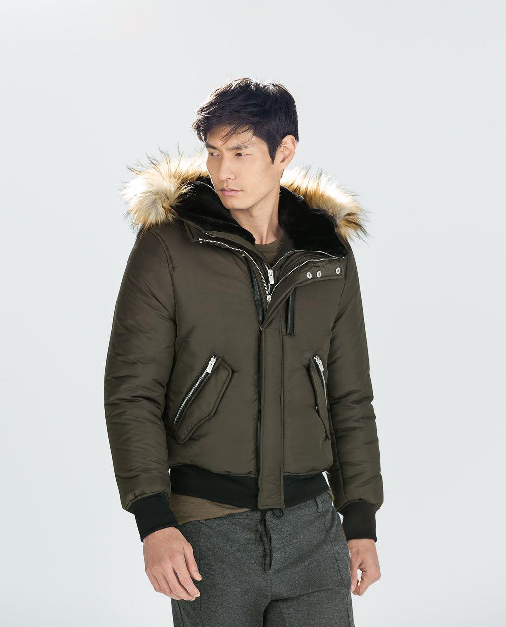 Zara Man Jacket With Fur Hood Zara Man Jacket Fur Hood Jacket Jackets [ 1269 x 1024 Pixel ]