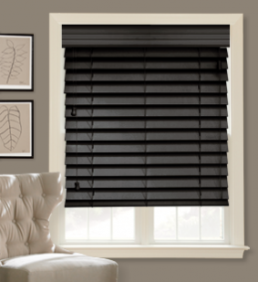 Why Not Make It Black Wood Blinds? Make It Pop!