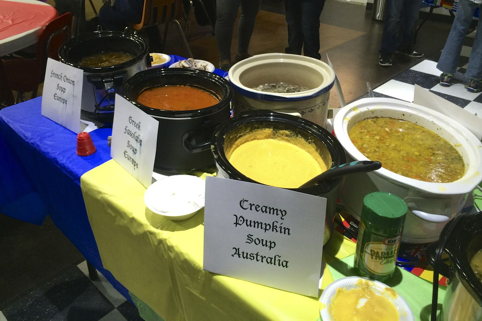 Variety of soups covering each continent.