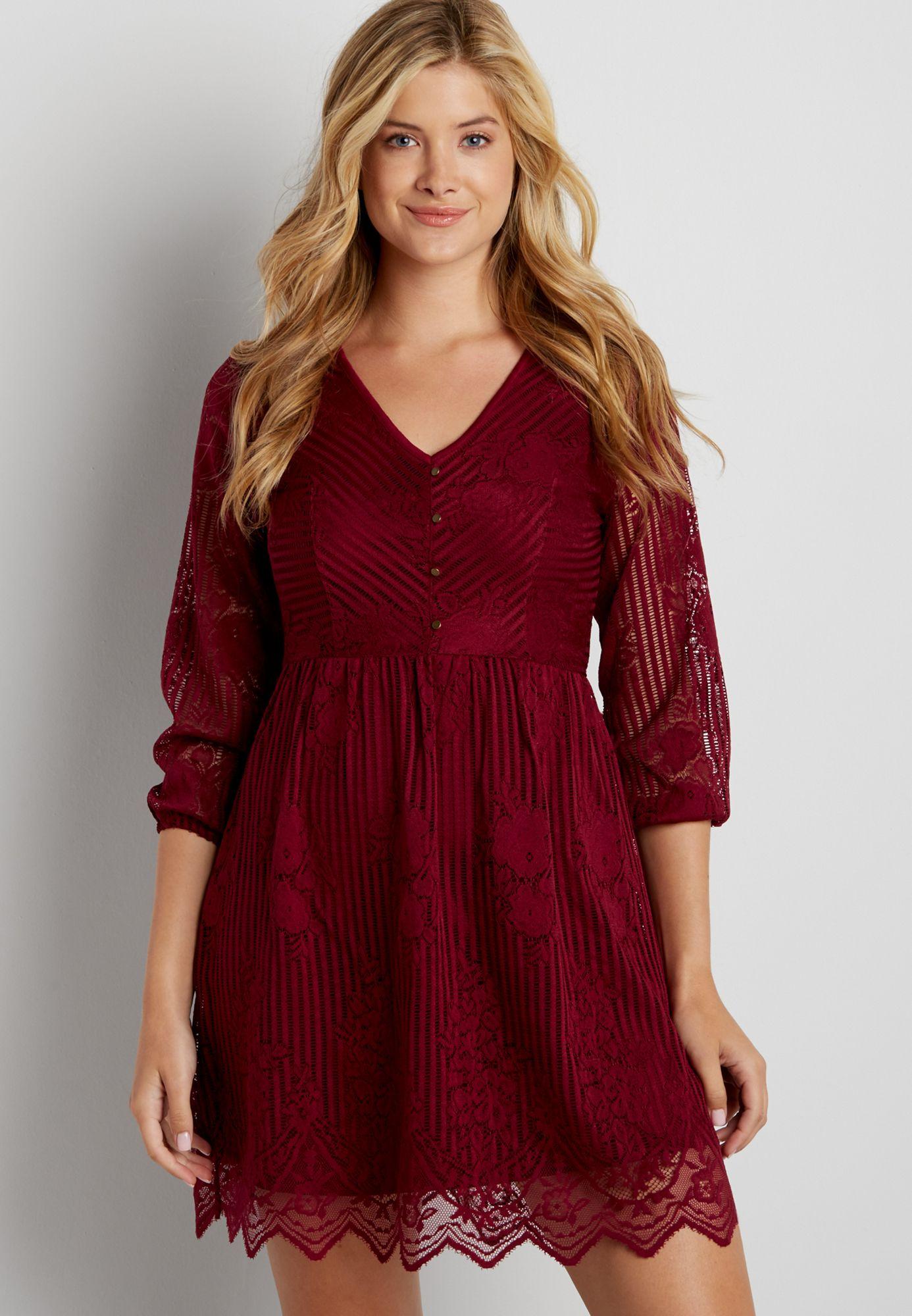 4ce85ce9d74d rose petal red lace dress (original price