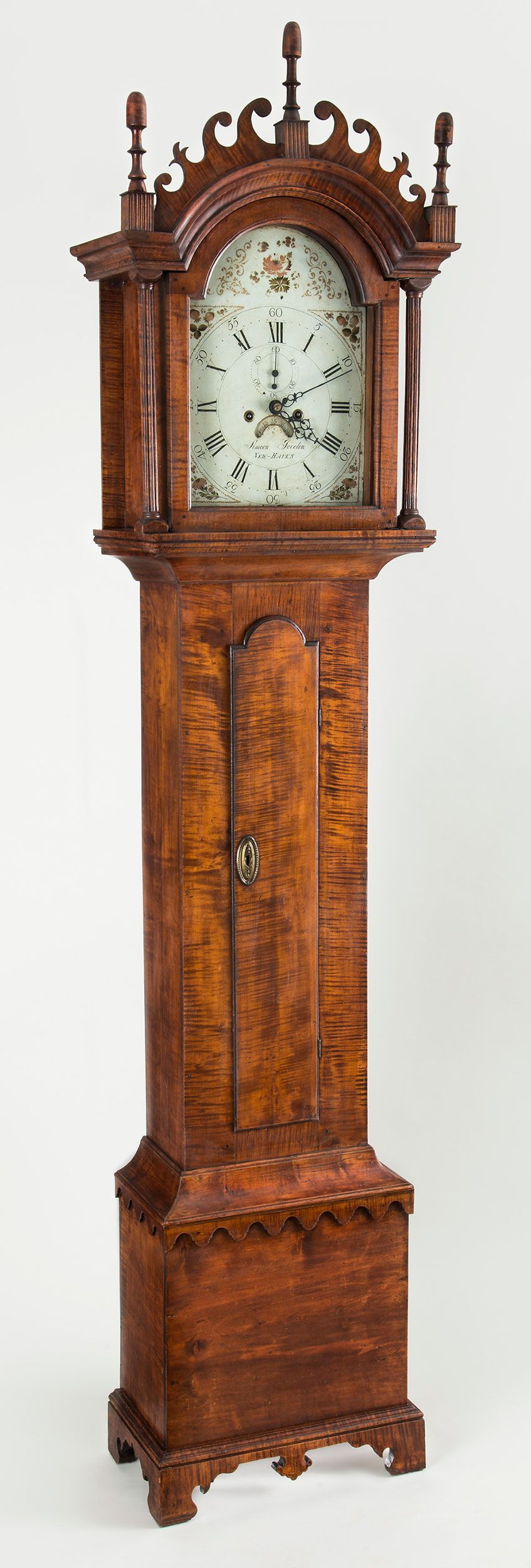 Chippendale tall-case clock, WORKS BY SIMEON JOCELIN (1746-1823), New Haven, Connecticut, circa 1790.