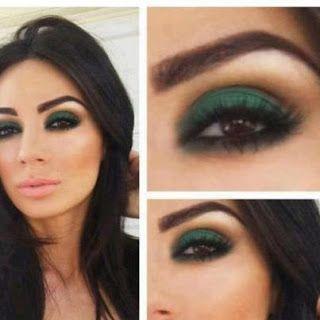 Maquillaje para vestido verde petroleo