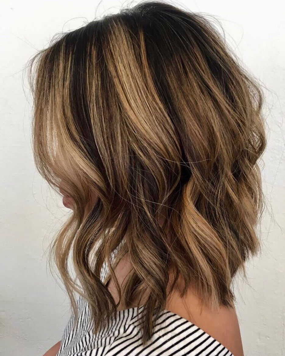 """Redlands Aveda Salon on Instagram: """"Tipping and Brightening with a Textured Lob �� @wendy_hairdust #wendyhairdust #tipping #brightening #highlightshair #texturedbob…"""""""