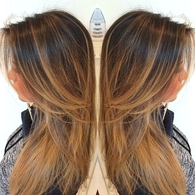 Warm golden balayage