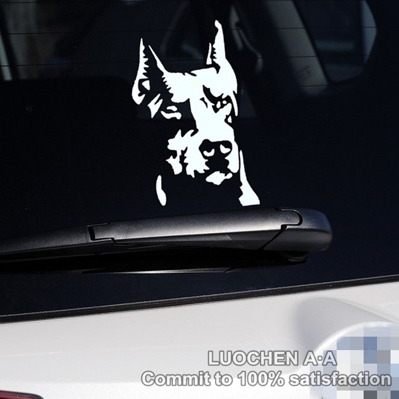 Car stickers dog hound doberman pinscher decals auto tuning waterproof symmetric 1610cm 23