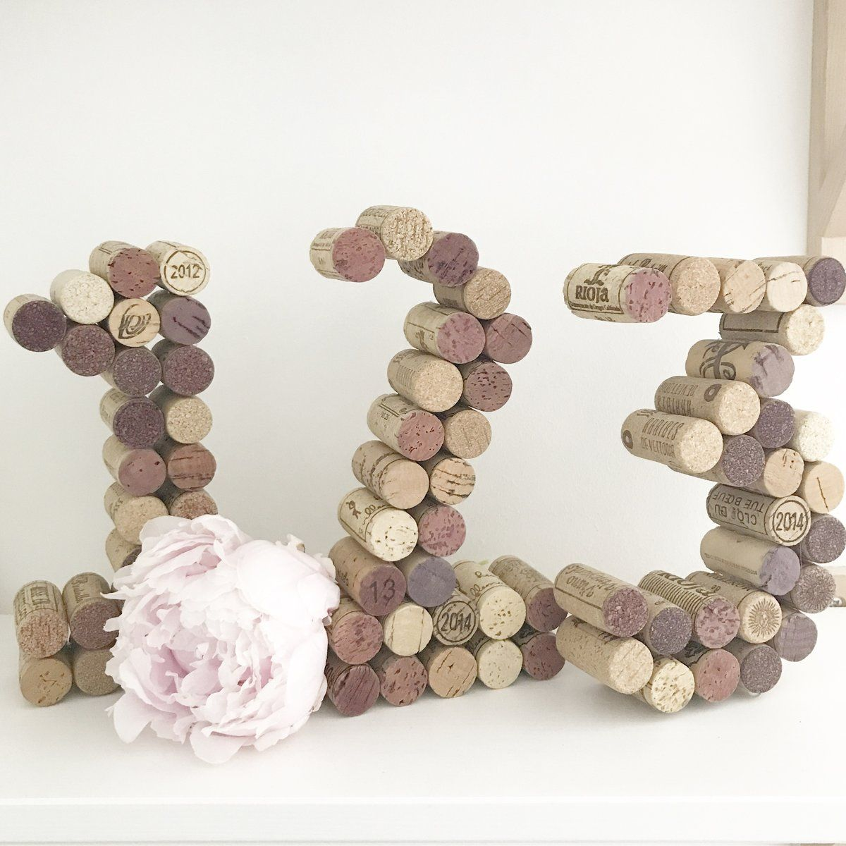 Wine Cork Table Numbers: Recycled Wine Cork Table Number In 2019