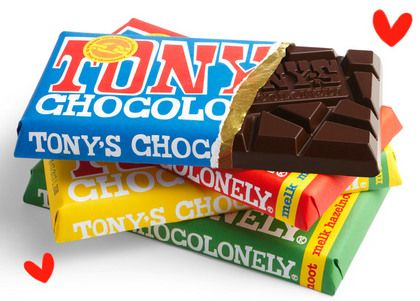 Tony's Chocolonely is a small-brand, family company chocolate producer that uses Fair Trade chocolate. Not only are you supporting small business, you're supporting ethical labor worldwide!