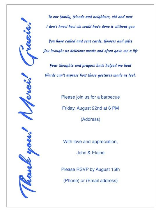 Thank you party invitations pinterest invitation wording sample invitation wording for thank you party stopboris Gallery