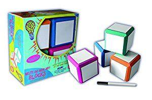 Amazon Com Mind Sparks Foam Dry Erase Blocks Toys Games Fun