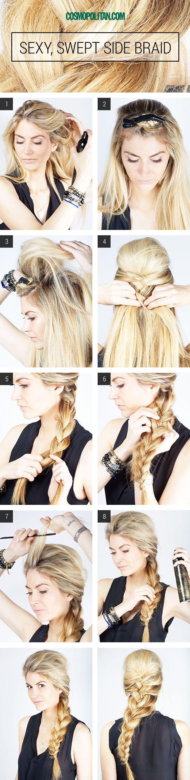 Hair How-To: Sexy Side Braid | Hair style, Elsa hair and Elsa braid