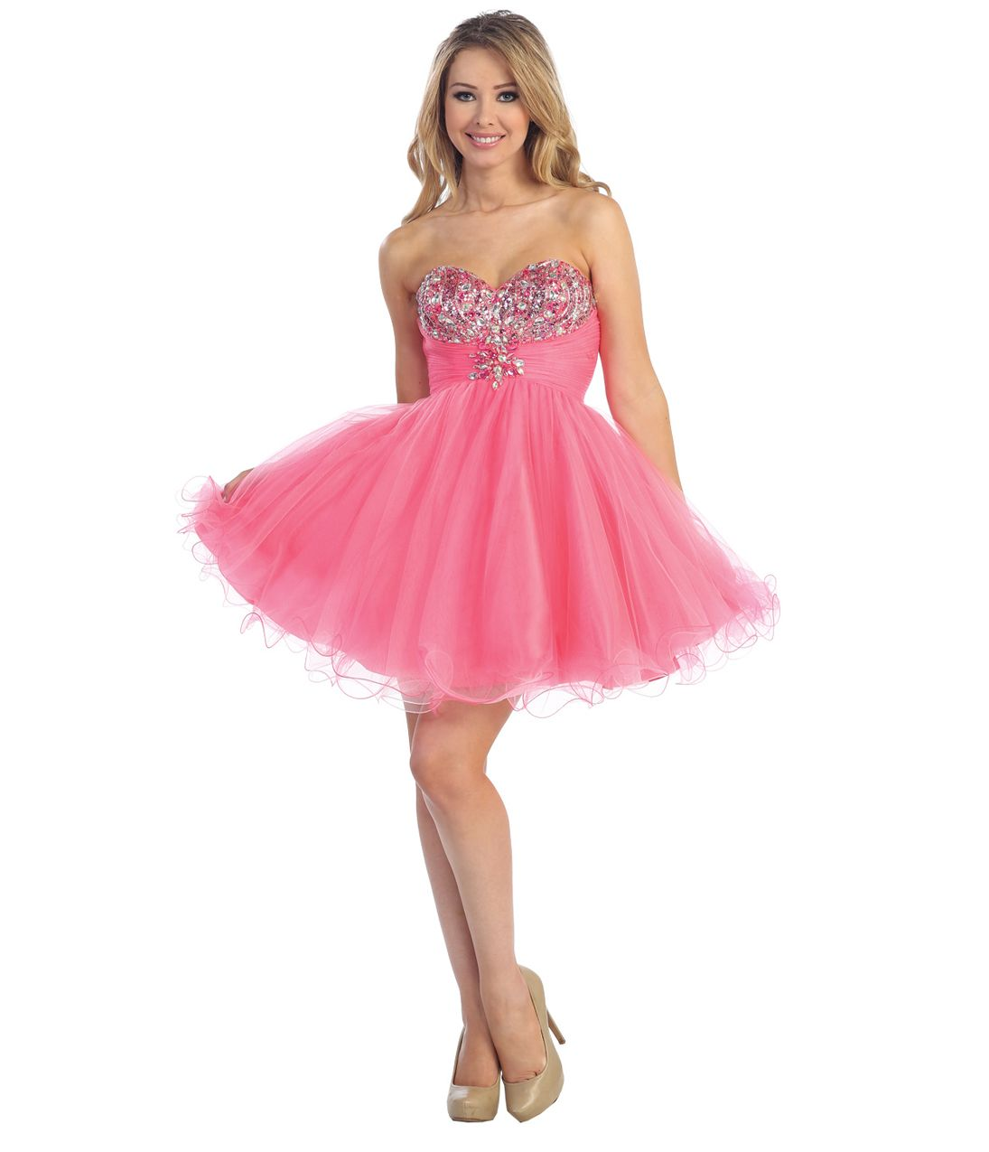 Trends short pink prom dresses on evening dresses design for Pink homecoming dresses