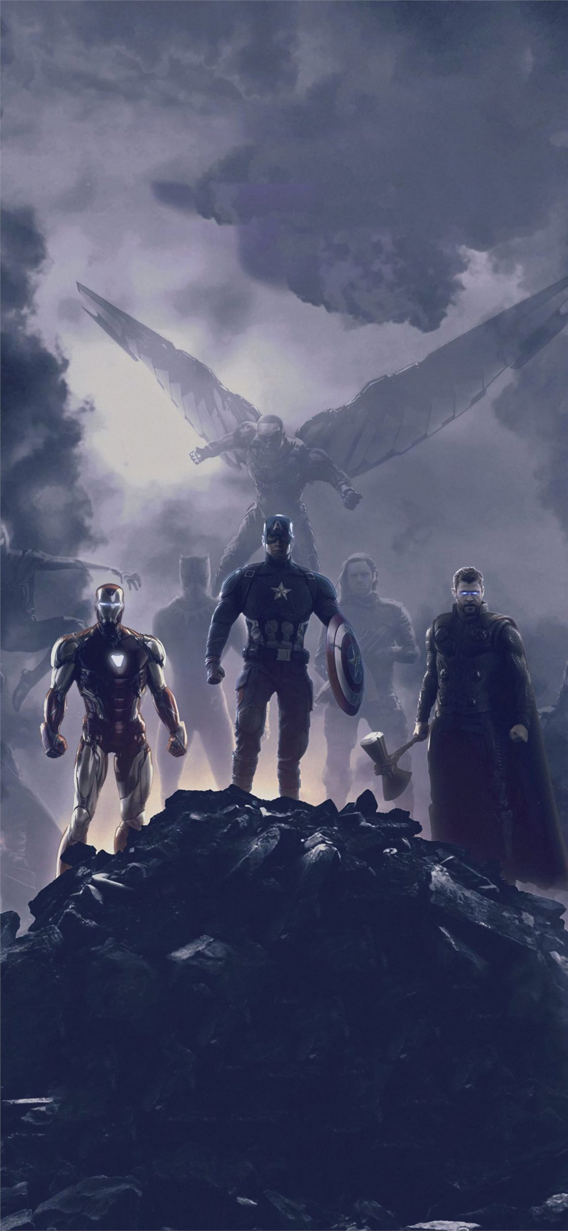 Awesome Avengers Endgame Trinity 2019 Iphone X Wallpapers Free Download Avengers Wallpaper Marvel Superheroes Marvel Artwork
