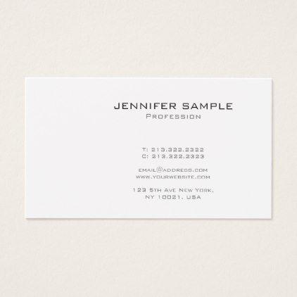 Create your own modern monogram glamour plain business card create your own modern monogram glamour plain business card business cards reheart Gallery