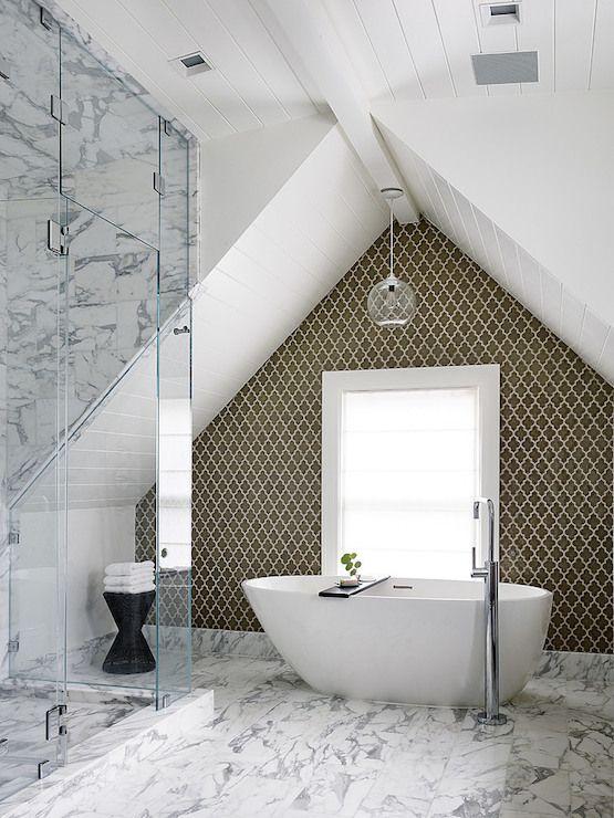 Arabesque Tiles Contemporary Bathroom Feldman Architecture Attic Master Bedroom Contemporary Remodel Bathroom Design