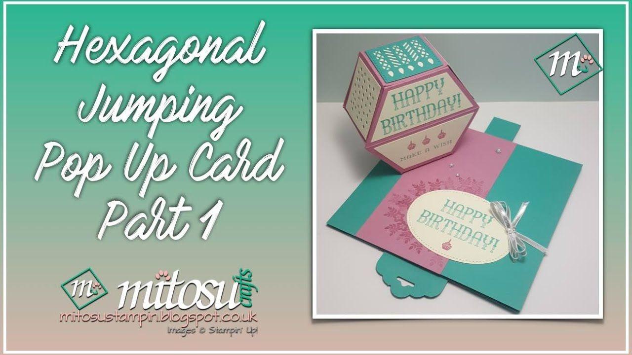 Hexagonal Jumping Pop Up Card Part 1 Pop Up Box Cards Pop Up Cards Pop Up