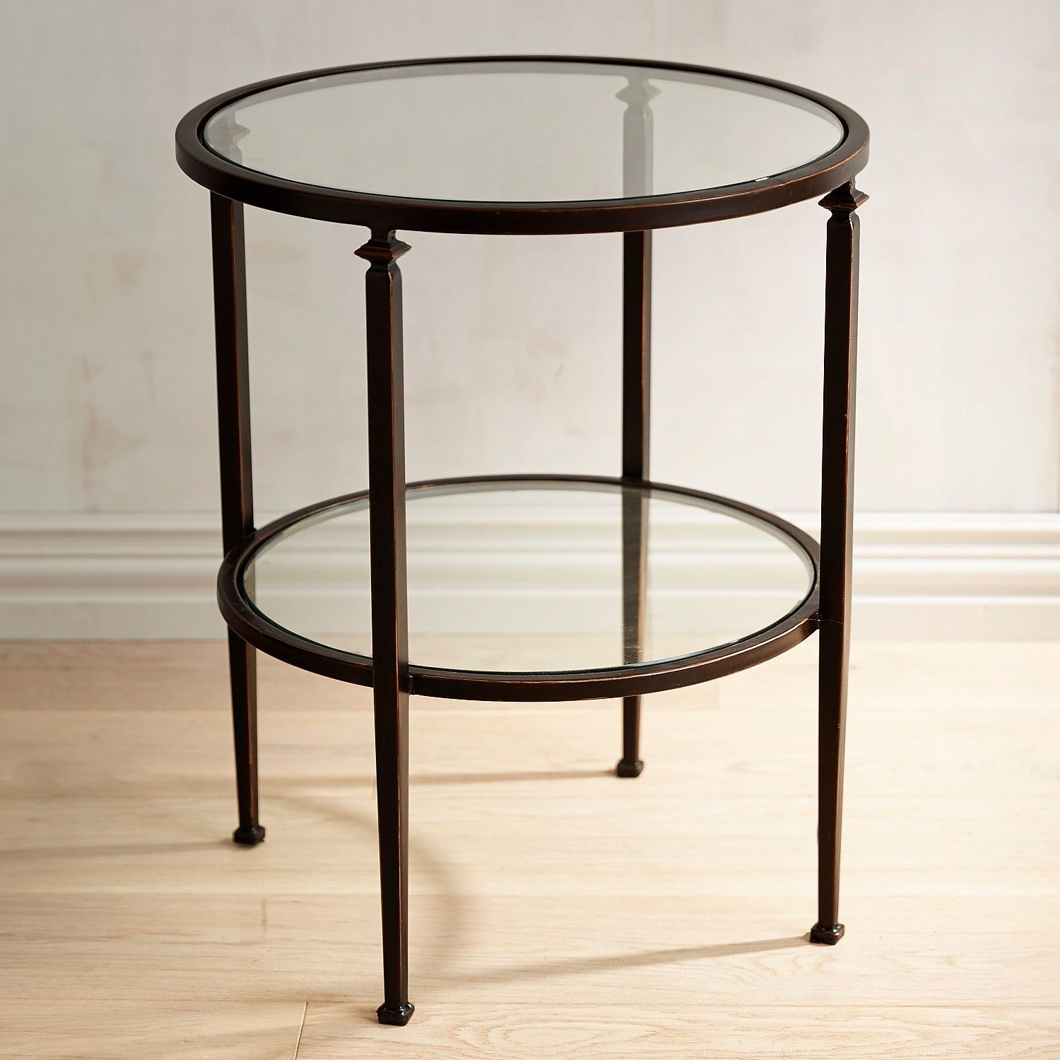 Lincoln Tempered Glass Top Round End Table Pier 1 Imports Glass Top End Tables Coffee Table Drum Coffee Table [ 1500 x 1500 Pixel ]