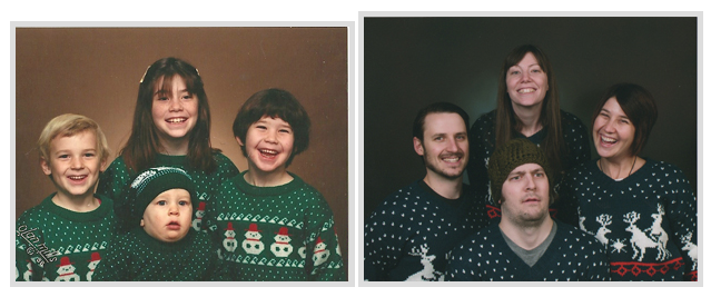Recreate an old family photo...I'm totally doing this