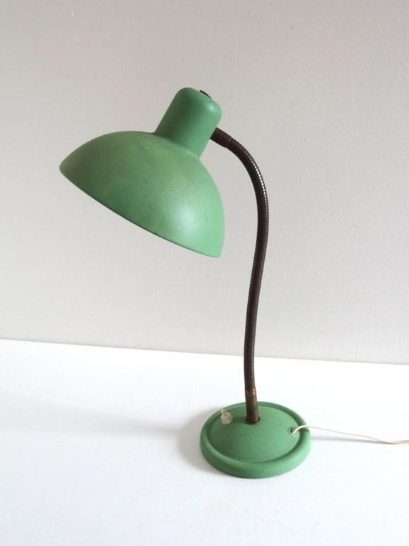 Grande Lampe De Bureau Vintage Cocotte Vert Amande Annees 50