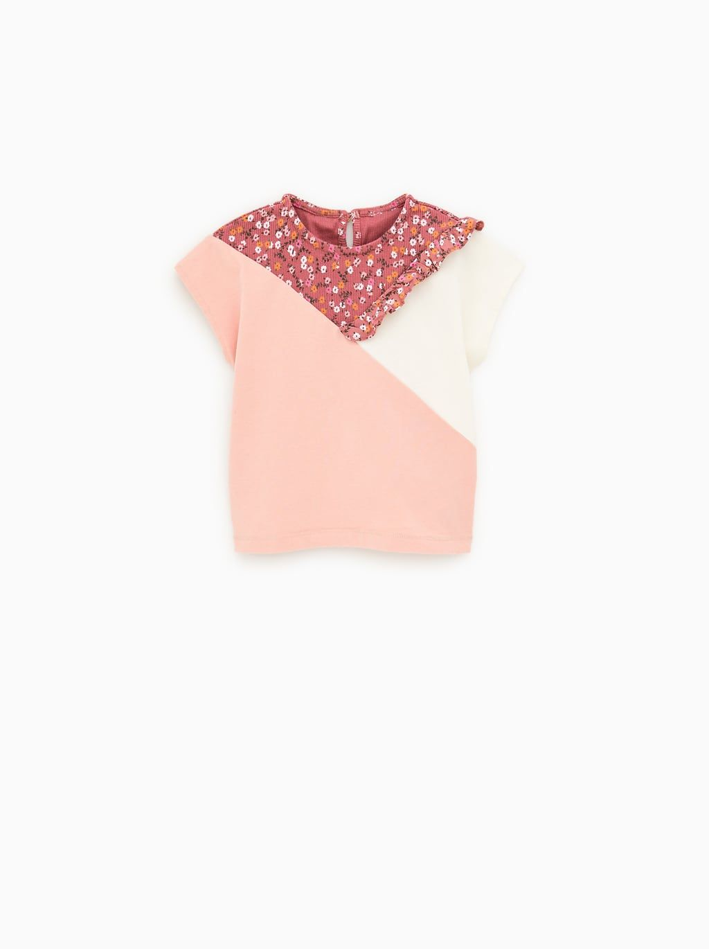 cb8ccdb5c8 Floral and ruffle t-shirt | For My Little One | Animal print shirts ...