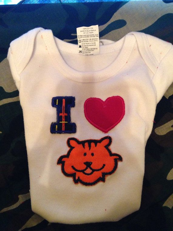 NB baby I love Tigers  by BoutiquebyLeah on Etsy