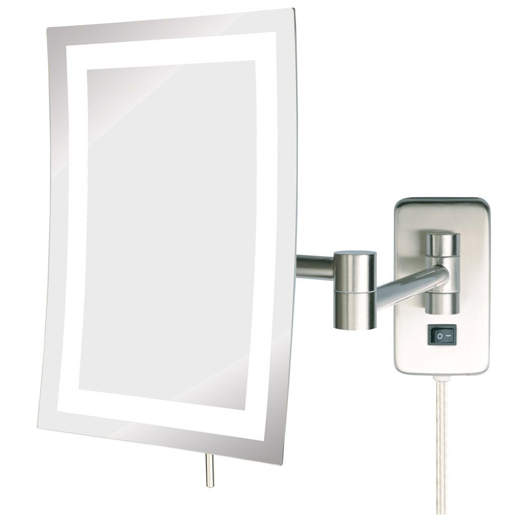6 5 X 9 5x Led Lighted Mirror Jerdon Style Wall Mounted Makeup Mirror Wall Mounted Mirror Lighted Wall Mirror
