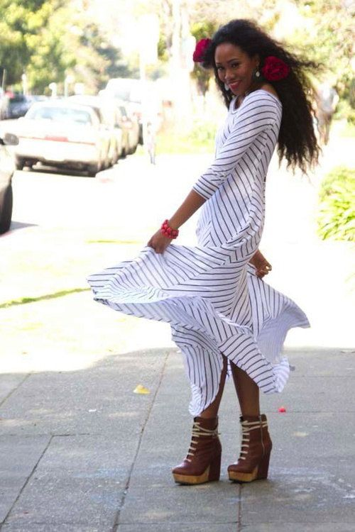 Striped Swirl Dress by Jeaja on Etsy, $109.00