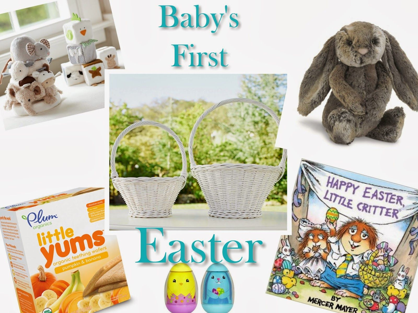 Babys first easter baby boy easter easter baby easter babys babys first easter basket ideas negle Images