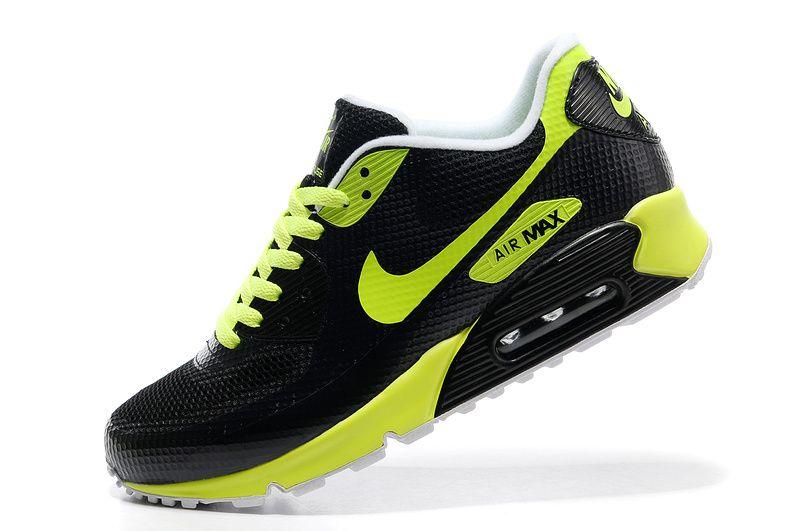 Nike Air Max 90 HYP FRM Men Black Green Running Shoes