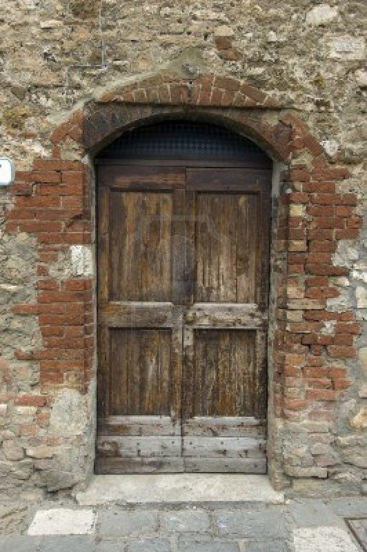 Tuscan Style Doors Old Wooden Door Italian Style Tuscany
