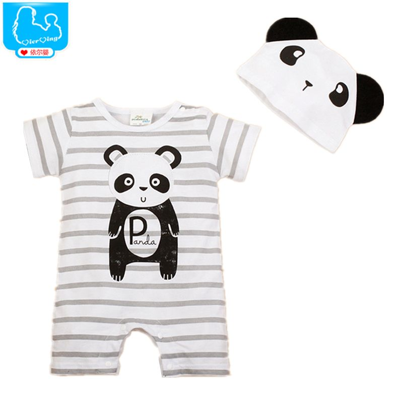 c2913d18627 Newborn Baby Rompers Summer Style Baby Girls Clothes 2pcs Animal Cartoon  Infant Jumpsuits Ropa Bebes Baby Boy Brand Clothing Set