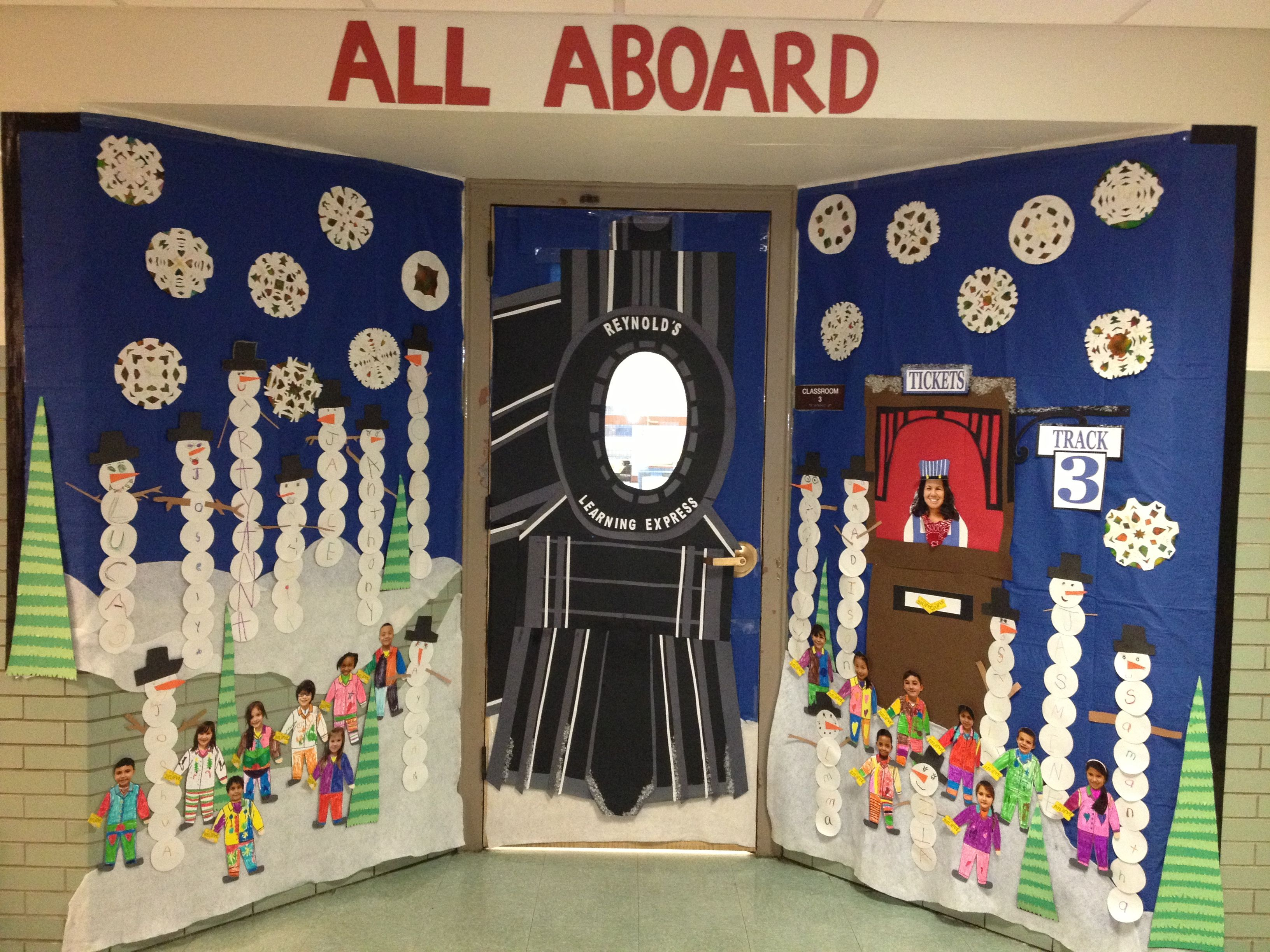 Winter Door Decorating At School Polar Express Teaching