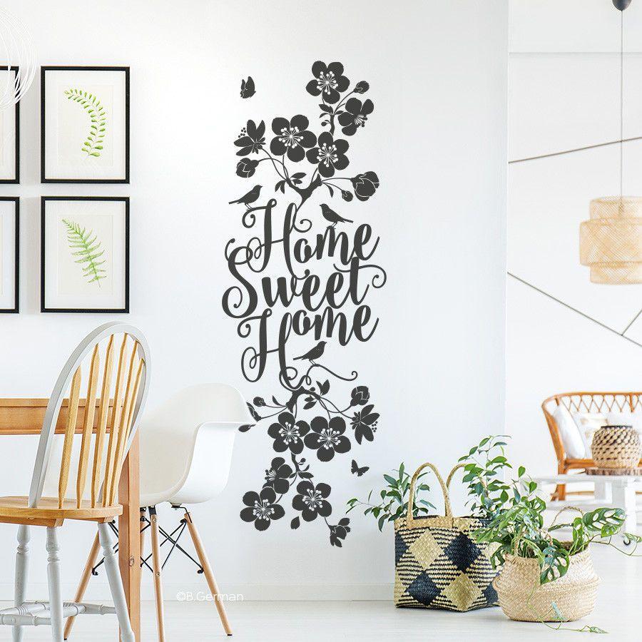 Großartig Wandtattoo Home Sweet Home Galerie Von Spruch Familie Liebe Wand Tattoo Wanddeko Sticker